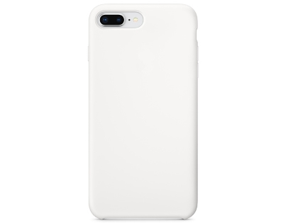 Silicone Case for Apple iPhone 7 Plus/8 Plus - White Soft Cover