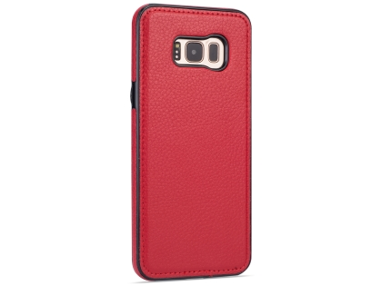 Synthetic Leather Back Cover for Samsung Galaxy S8+ - Red Leather Case