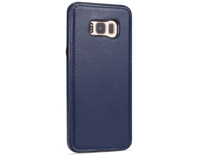 Synthetic Leather Back Cover for Samsung Galaxy S8+ - Blue Leather Case