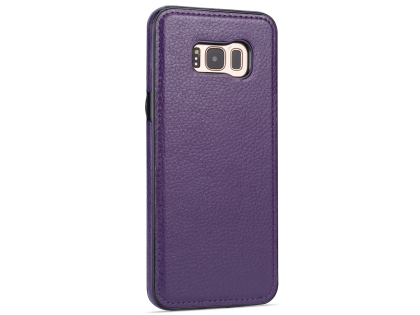 Synthetic Leather Back Cover for Samsung Galaxy S8+ - Purple Leather Case