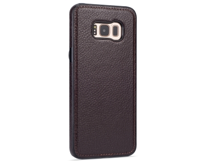 Synthetic Leather Back Cover for Samsung Galaxy S8+ - Brown Leather Case