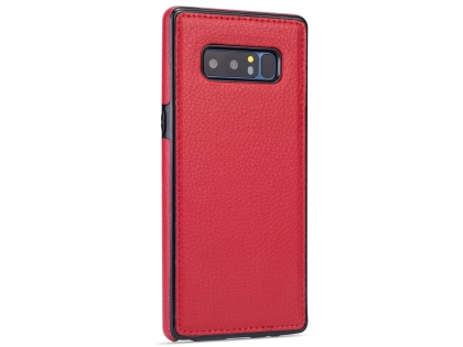 Synthetic Leather Back Cover for Samsung Galaxy Note8 - Red Leather Case