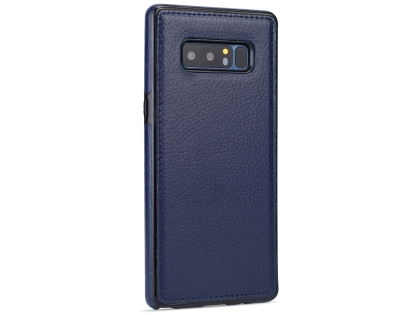 Synthetic Leather Back Cover for Samsung Galaxy Note8 - Blue Leather Case
