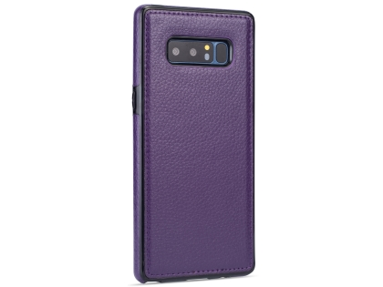 Synthetic Leather Back Cover for Samsung Galaxy Note8 - Purple Leather Case