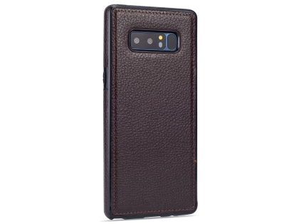 Synthetic Leather Back Cover for Samsung Galaxy Note8 - Brown Leather Case