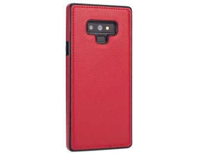 Synthetic Leather Back Cover for Samsung Galaxy Note9 - Red Leather Case