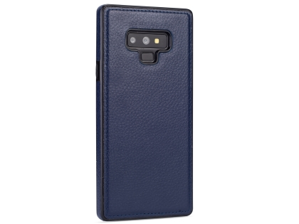 Synthetic Leather Back Cover for Samsung Galaxy Note9 - Blue Leather Case