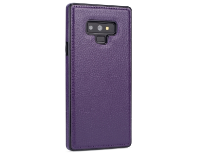 Synthetic Leather Back Cover for Samsung Galaxy Note9 - Purple Leather Case