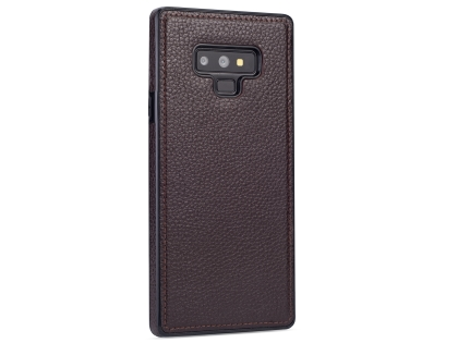 Synthetic Leather Back Cover for Samsung Galaxy Note9 - Brown Leather Case