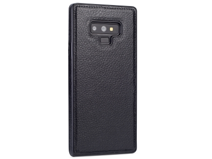 Synthetic Leather Back Cover for Samsung Galaxy Note9 - Black Leather Case