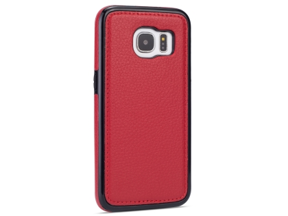 Synthetic Leather Back Cover for Samsung Galaxy S7 - Red Leather Case