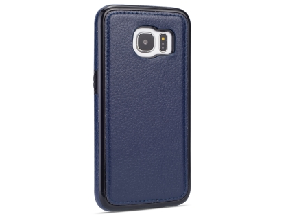 Synthetic Leather Back Cover for Samsung Galaxy S7 - Blue Leather Case