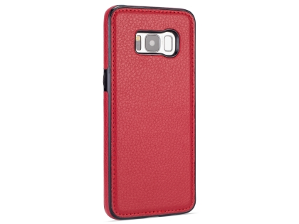 Synthetic Leather Back Cover for Samsung Galaxy S8 - Red Leather Case