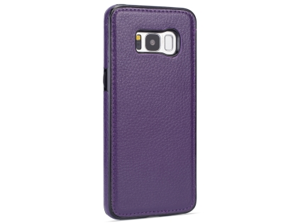 Synthetic Leather Back Cover for Samsung Galaxy S8 - Purple Leather Case