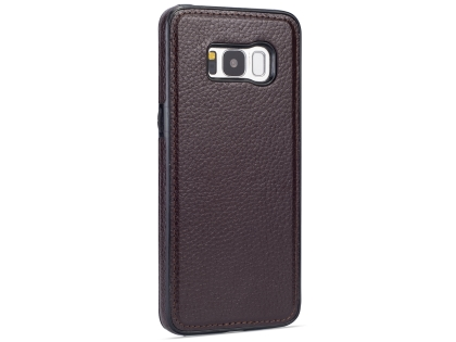 Synthetic Leather Back Cover for Samsung Galaxy S8 - Brown Leather Case