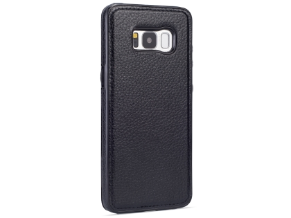 Synthetic Leather Back Cover for Samsung Galaxy S8 - Black Leather Case