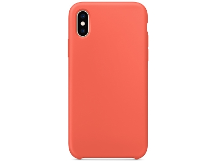 Silicone Case for Apple iPhone Xs - Nectarine Soft Cover