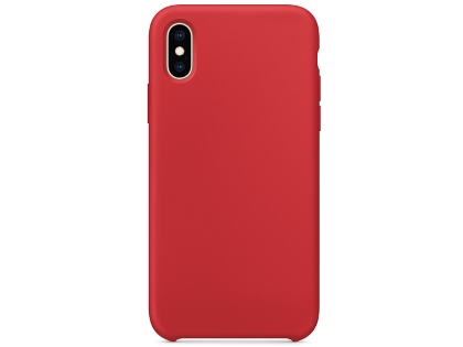 Silicone Case for Apple iPhone Xs - Red Soft Cover