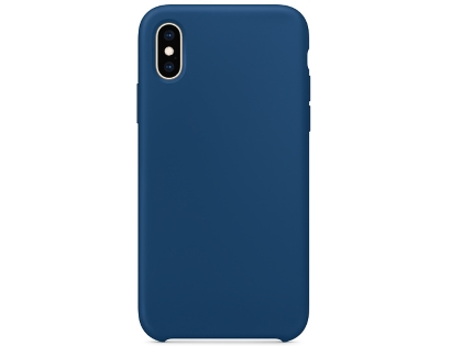Silicone Case for Apple iPhone Xs - Blue Soft Cover