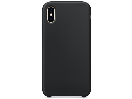 Silicone Case for Apple iPhone Xs - Black Soft Cover