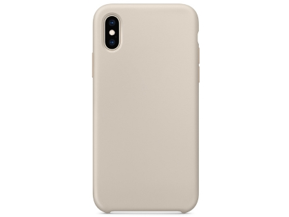 Silicone Case for Apple iPhone Xs - Stone Soft Cover