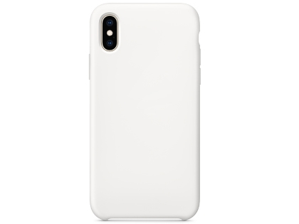 Silicone Case for Apple iPhone Xs - White Soft Cover