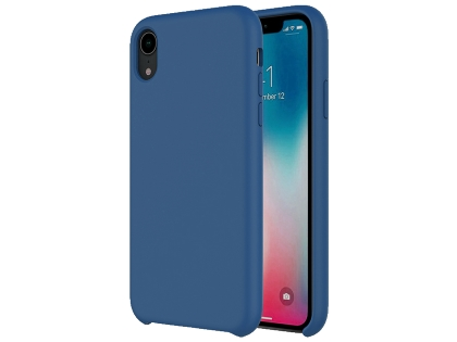 Silicone Case for Apple iPhone XR - Blue Soft Cover