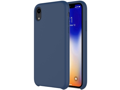 Silicone Case for Apple iPhone XR - Midnight Blue Soft Cover