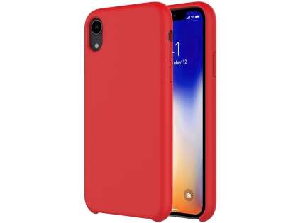 Silicone Case for Apple iPhone XR - Red Soft Cover