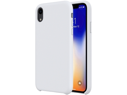 Silicone Case for Apple iPhone XR - White Soft Cover