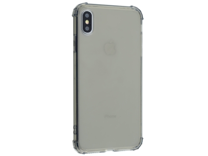 Gel Case with Bumper Edges for iPhone Xs Max - Grey Soft Cover