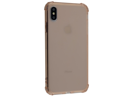 Gel Case with Bumper Edges for iPhone Xs Max - Rose Gold Soft Cover