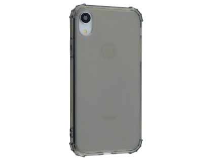 Gel Case with Bumper Edges for iPhone XR - Grey Soft Cover