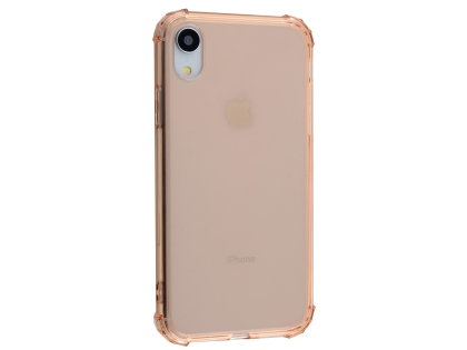 Gel Case with Bumper Edges for iPhone XR - Rose Gold Soft Cover