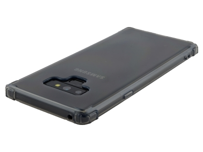 Gel Case with Bumper Edges for Samsung Galaxy Note9 - Grey Soft Cover
