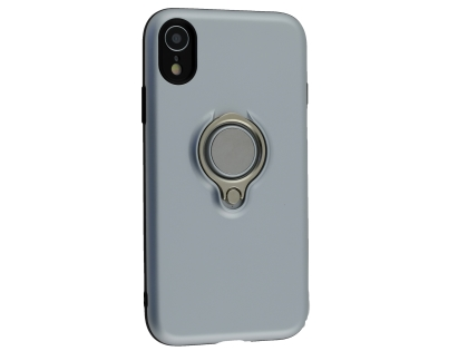 Impact Case With Ring Holder for iPhone XR - Silver Impact Case
