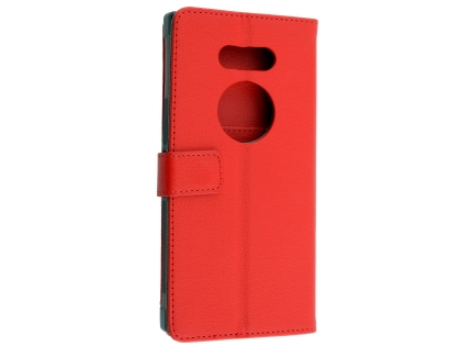 Synthetic Leather Wallet Case with Stand for Razer Phone 2 - Red Leather Wallet Case