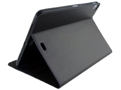 Premium Genuine Leather Slim Portfolio Case with Stand for iPad Pro 11 - Black Leather Flip Case