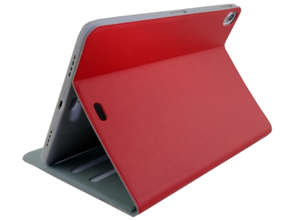 Premium Genuine Leather Slim Portfolio Case with Stand for iPad Pro 11 - Red Leather Flip Case