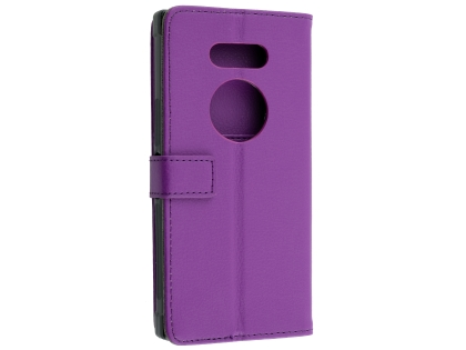 Synthetic Leather Wallet Case with Stand for Razer Phone 2 - Purple Leather Wallet Case