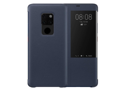 Official Huawei Mate 20 Smart View Flip Case - Blue S View Cover
