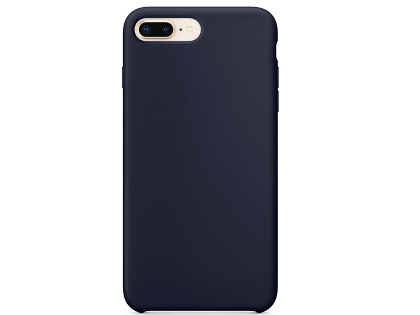 Silicone Case for Apple iPhone 7 Plus/8 Plus - Midnight Blue Soft Cover