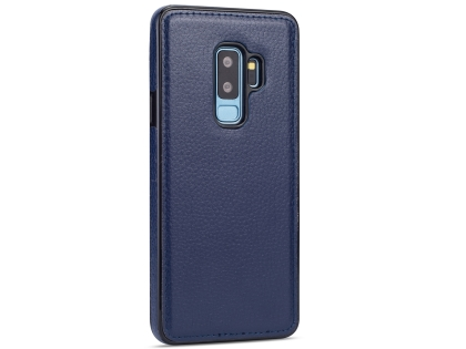 Synthetic Leather Back Cover for Samsung Galaxy S9+ - Blue Leather Case