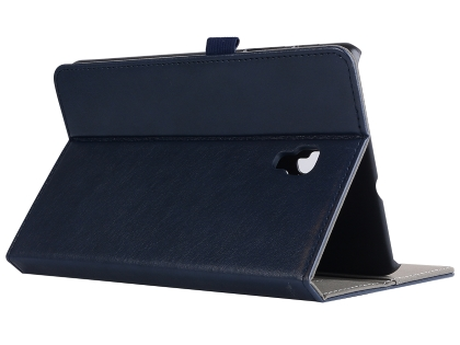 Synthetic Leather Flip Case with Stand for Samsung Galaxy Tab A 8.0 (2017) - Midnight Blue Leather Flip Case