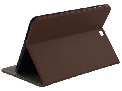Synthetic Leather Flip Case with Stand for Samsung Galaxy Tab S2 9.7 - Brown Leather Flip Case