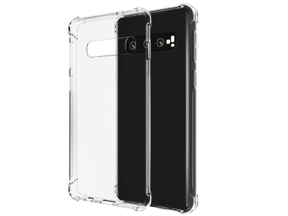 Gel Case with Bumper Edges for Samsung Galaxy S10 - Clear Soft Cover