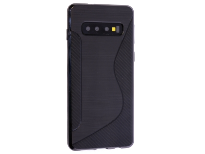 Wave Case for Samsung Galaxy S10+ - Black Soft Cover