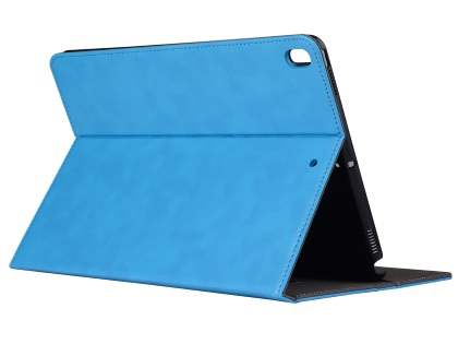Synthetic Leather Flip Case with Stand for iPad Air 3rd Gen (2019) - Sky Blue Leather Flip Case