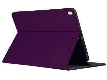 Synthetic Leather Flip Case with Stand for iPad Air 3rd Gen (2019) - Purple Leather Flip Case