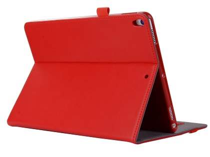 Genuine Leather Case with Stand for iPad Air 3rd Gen (2019) - Red Leather Flip Case